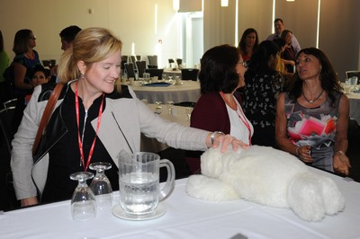 Paro the robotic seal gets a smile at IQ 2016!