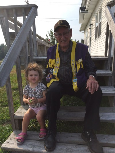 Joe Connors, 93 years young, looks forward to his home care provider visits, along with smiles from his niece Lillian!