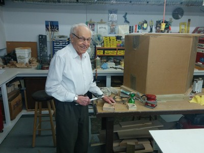 Peter Wladyka, 91 years young, mans the workshop at Christenson Communities' Devonshire Village.