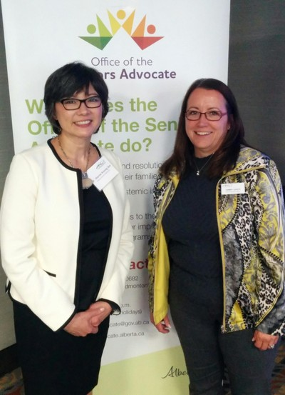 Dr. Kwong See, Alberta's Seniors Advocate, and Tammy Leach CEO
